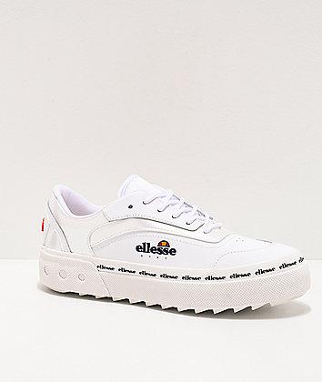 ellesse Alzina White Leather Shoes