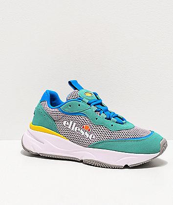 ellesse Massello Opel Grey & Sea Blue Shoes