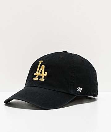'47 LA Dodgers Gold Script Strapback Hat