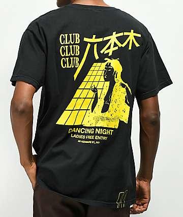 10 Deep Dancing Night Pocket Black T-Shirt