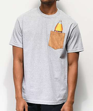 40s & Shorties Bag It Grey Pocket T-Shirt