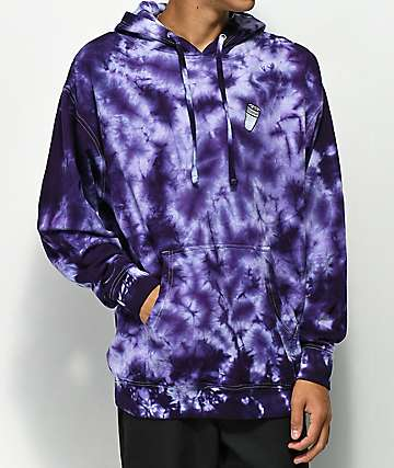40s & Shorties Double Cup Purple Tie Dye Hoodie