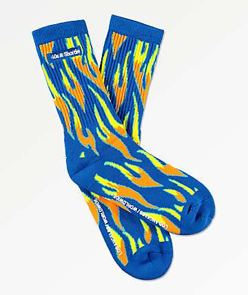 40s & Shorties Fire Blue Crew Socks
