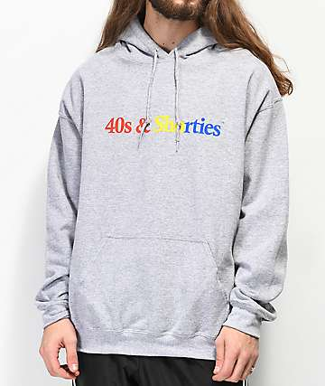 40s & Shorties Text Logo Grey Hoodie