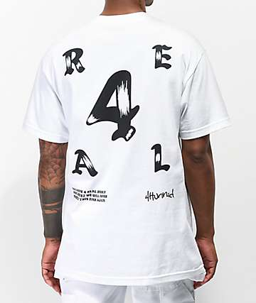 4Hunnid 4Real Olde White T-Shirt