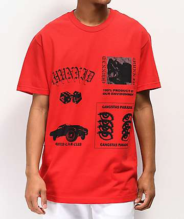 4Hunnid Collage Red T-Shirt