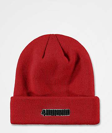 4Hunnid Fitted Red Beanie
