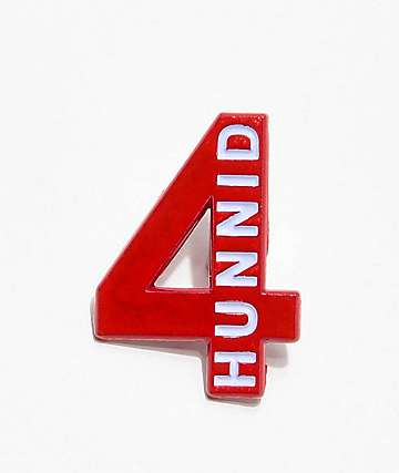 4Hunnid Logo Enamel Pin