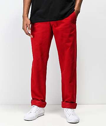4Hunnid pantalones chinos rojos
