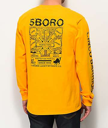 5Boro Lucky NY Gold Long Sleeve T-Shirt
