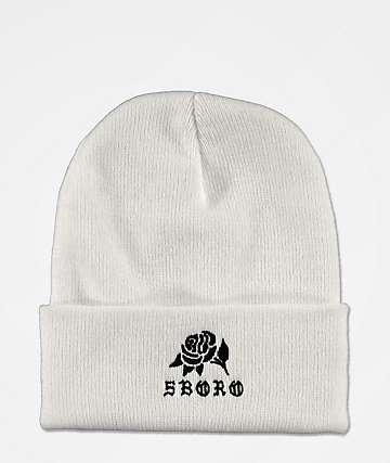 5Boro Rose White Beanie