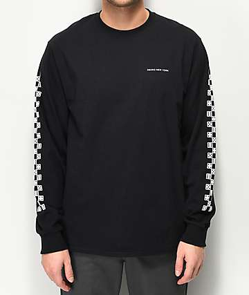 5boro Dice Checkered Black Long Sleeve T-Shirt