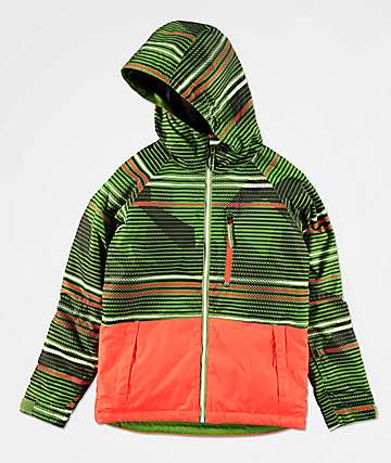 686 Boys Jinx Green 10K Snowboard Jacket