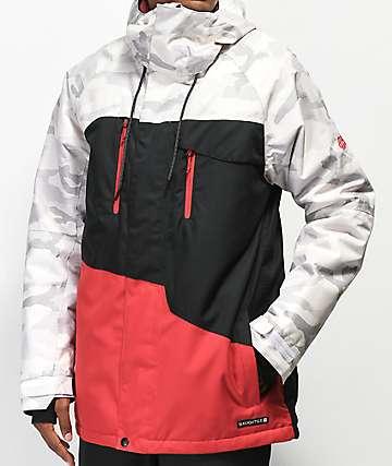 686 Geo White Camo 10K Snowboard Jacket