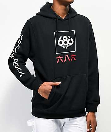 686 Japan Black Hoodie