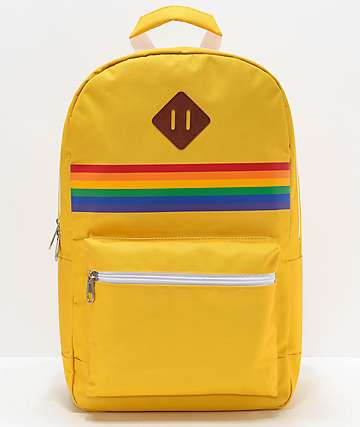 A-Lab Barbara Yellow & Rainbow Backpack