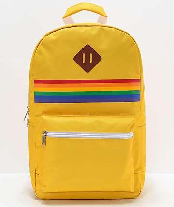 A-Lab Barbara mochila amarilla y arcoíris