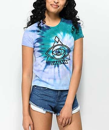 A-Lab Ezra Peace Eye Blue Tie Dye T-Shirt