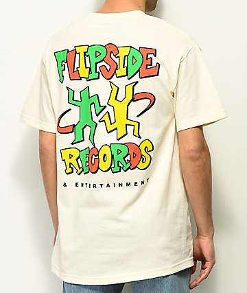 A-Lab Flipside Records Cream T-Shirt