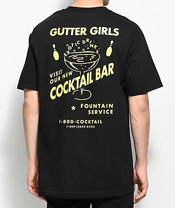 A-Lab Gutter Girls Bar Black T-Shirt