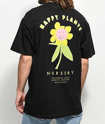 A-Lab Happy Plants camiseta negra