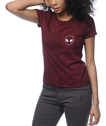 A-Lab Kito Alien Burgundy Pocket T-Shirt