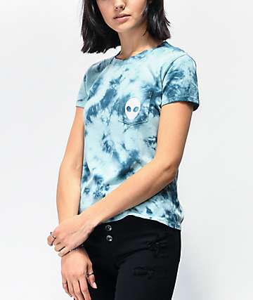 A-Lab Kito Light Blue Tie Dye Pocket T-Shirt
