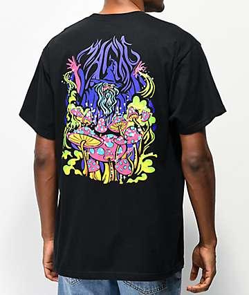 A-Lab Magic Mushrooms camiseta negra