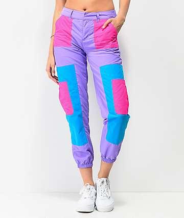 A-Lab Mega pantalones de chándal morados y rosas