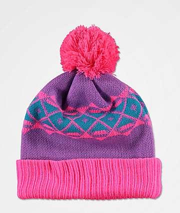 A-Lab Toni Ski Skool gorro rosa y morado