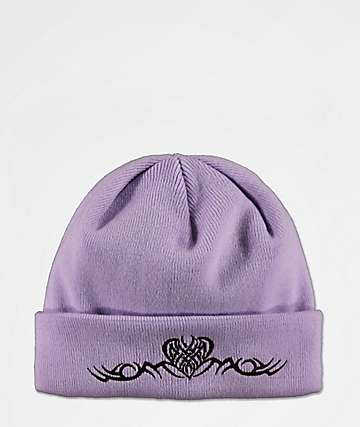 A-Lab Tribal Heart Light Purple Beanie