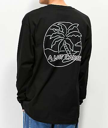 A Lost Cause Neon Dreams Black Long Sleeve T-Shirt