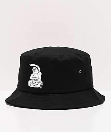 A Lost Cause Rippin' Black Bucket Hat