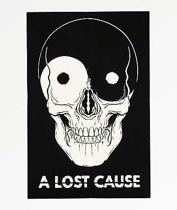 A Lost Cause Yin Yang Skull Sticker