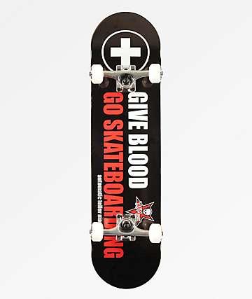 """ATM Give Blood 8.0"""" Skateboard Complete"""