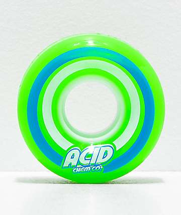 Acid Pods 55mm 86a Green Skateboard Wheels