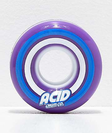 Acid Pods Purple 55mm 86a Skateboard Wheels