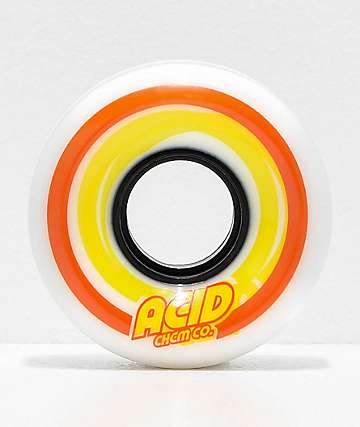 Acid Pods White 55mm 86a Skateboard Wheels