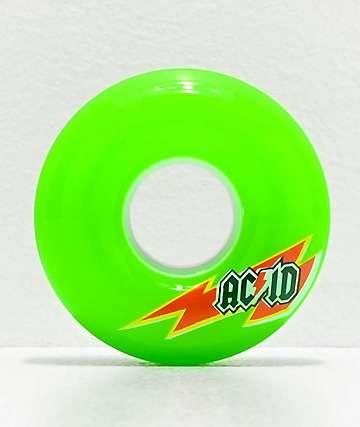 Acid Skaterade 56mm 86a Lime Green Skateboard Wheels
