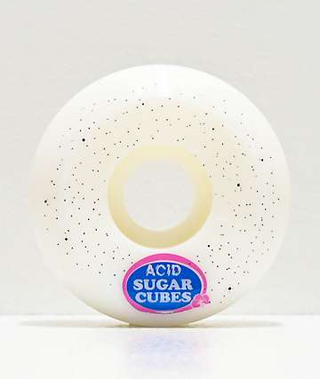Acid Sugar Type A White 55mm Skateboard Wheels