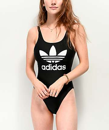 Adidas Trefoil bañador negro