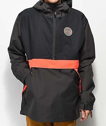 Airblaster x GNU Trenchover Hot Black 15K Snowboard Jacket