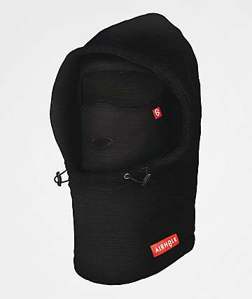 Airhole Airhood Black Microfleece Balaclava