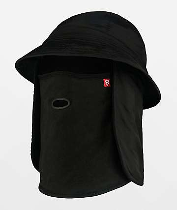 Airhole Black Bucket Hat Balaclava