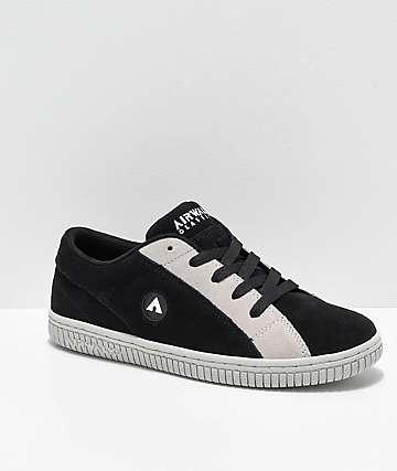 Airwalk Random Black, White & Grey Skate Shoes