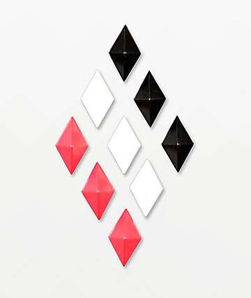 Alibi Diamond Red, White & Black Stomp Pad