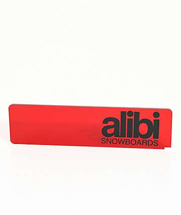 Alibi Red Snowboard Wax Scraper