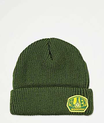 Alien Workshop Logo Dark Army Green Beanie