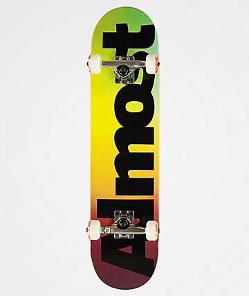 "Almost Black Fade 7.62"" Skateboard Complete"