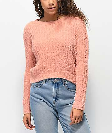 Almost Famous Soft Clay Crew Neck Sweater